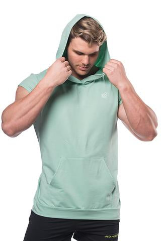 Impact Sleeveless Hoodie - Mint Green