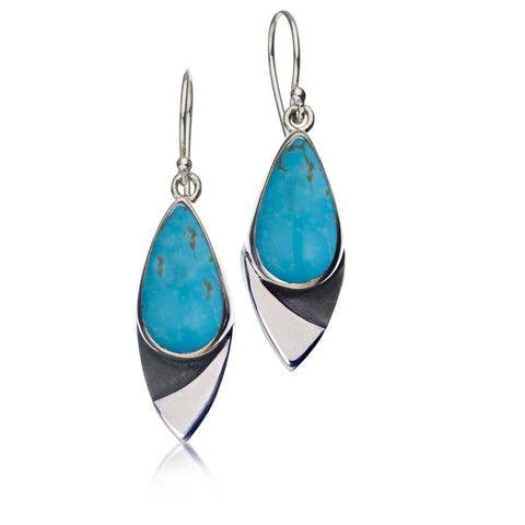 CERULEAN CHIME TURQUOISE TEARDROP EARRINGS