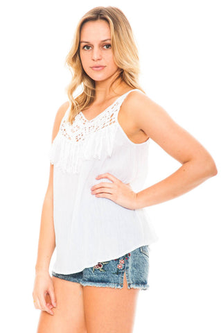 TANK - HILARY BY BB DAKOTA CROCHET TOP