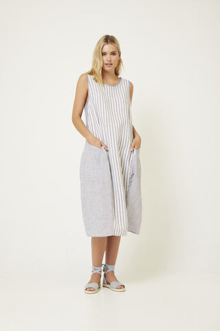 VALIA STRIPY SHAPED DRESS