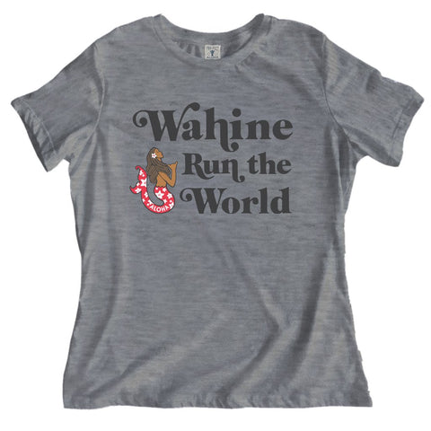 WAHINE HEATHER GRAY RELAXED TEE