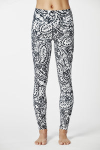 White & Black Paisley