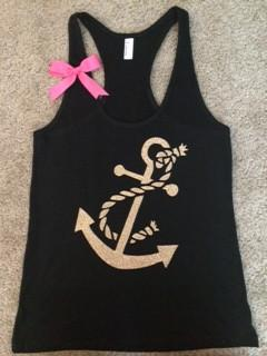 Anchor Tank - Customize - Racerback Tank - Ruffles with Love - Gym Tank - Workout Tank - Workout Clothes
