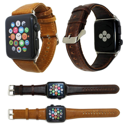 Premium Leather Band for Apple Watch (42mm/38mm) - 2 colors available