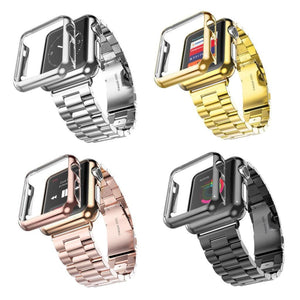 Stainless Steel Apple Watch Band Series 1 + Matching Protective Cover (38mm/42mm) - 4 colors available
