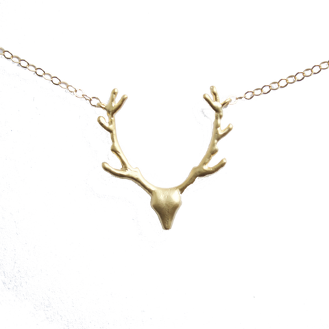fall antler necklace