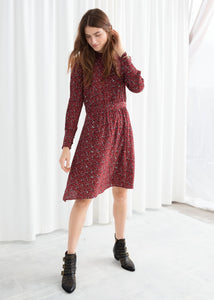 Button Down Printed Dress