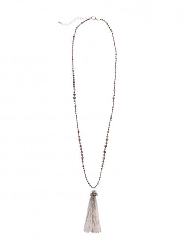Beaded Tassle Necklace