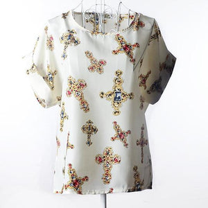 Large size women printed Blouse - 10 different prints to pick from