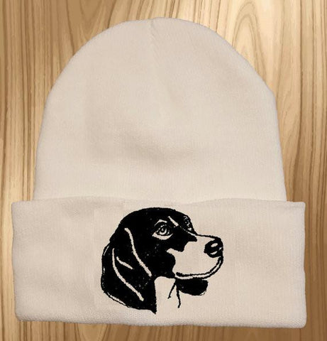Beagle Knit Ski Hat