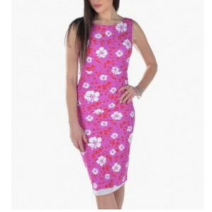 Bettina Dress - Pink and White Flowers