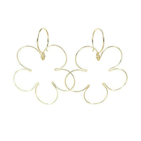 Blossom Gold Earrings, Large