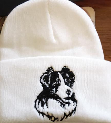 Border Collie Knit Ski Hat