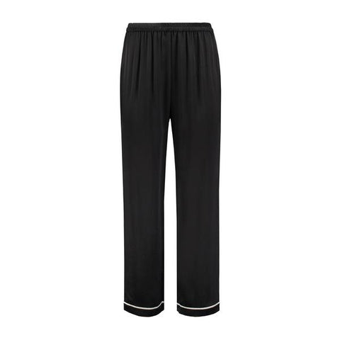 Silk Pajama Pants Black Tulip