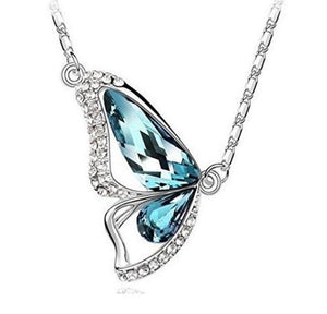 "Bella"" Swarovski Butterfly Pendant Necklace"