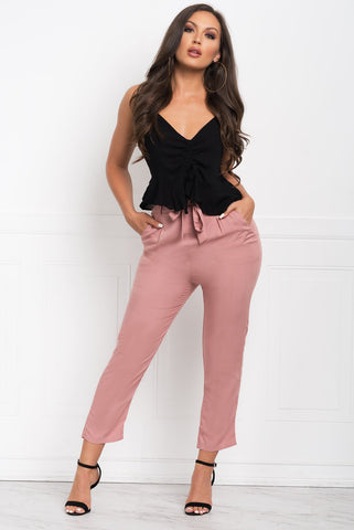 LUCY PANTS - DUSTY PINK