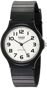 CASIO MEN'S ANALOG WATCH WITH BLACK RESIN BAND