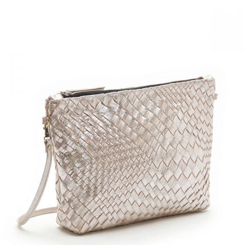 CLARAMONTE LARGE CROSSBODY POUCH SILVER