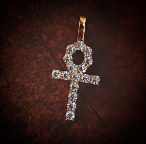 DIAMOND ANKH NECKLACE