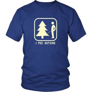 I Pee Outside Unisex Shirt