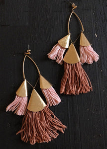 Ettika Desert Rose Tassel Earrings