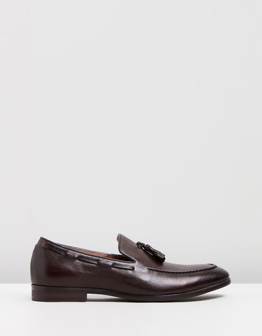 Monte Leather Tassel Loafers