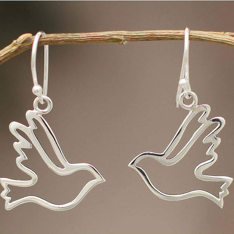 Sterling Silver Earrings | Doves of Peace