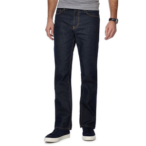 J by Jasper Conran - Dark blue dark wash straight fit jeans