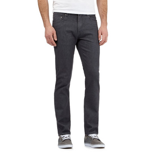 Red Herring - Grey zip fly raw slim leg jeans