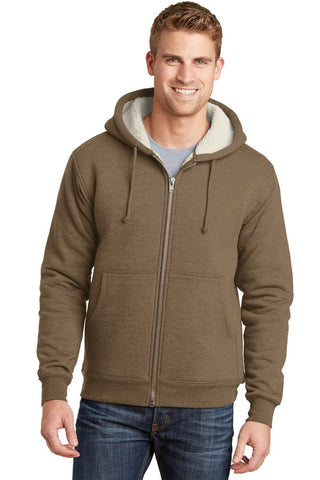 MEN'S WINTER HEAVYWEIGHT SHERPA LINED HOODED WARM FLEECE JACKET_BLACK_S-6XL