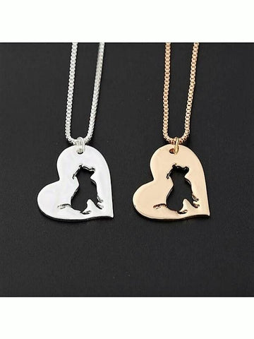 Pit Bull In a Heart Silver or Gold Plated Necklace - Proceeds go to Pit Bull rescue