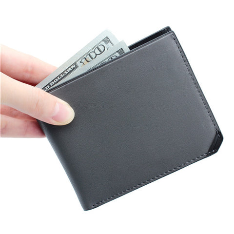 Matte Grey Leather Wallet
