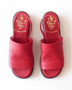 FIVE STAR SANDAL RED LEATHER