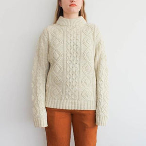 Vintage Cream Fishermans Sweater