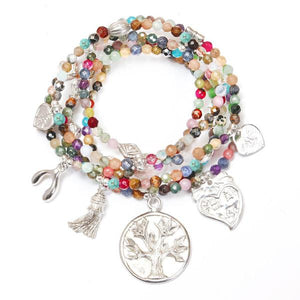 Transformation Multi Gemstone Bracelet Set