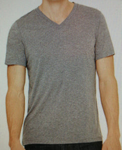 Plain V-neck Grey with antiprint technology