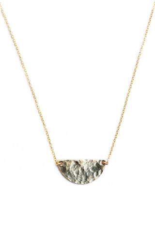 Guinevere Hammered Half-Circle Necklace