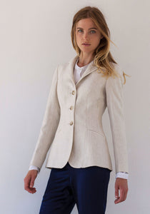 Hacking Jacket in Cream Acer