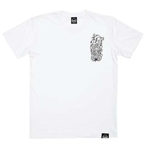 SOULLESS POCKET - WHITE - 100% ORGANIC COTTON T-SHIRT - UNISEX
