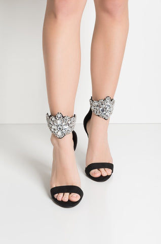HERE GOES EVERYTHING JEWELED SANDALS