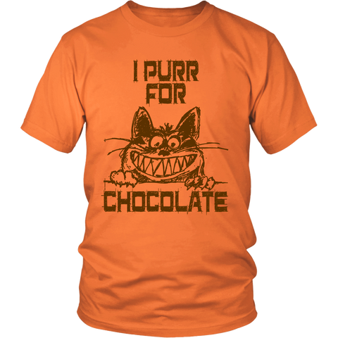 I Purr for Chocolate Unisex T-shirt for Men and Women