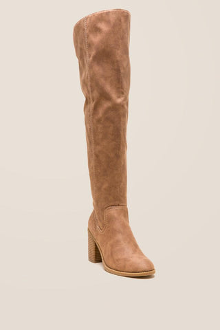 Fergalicious Dina Distressed Over the Knee Boot