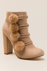 XOXO Yolandra Faux Fur Puff Ankle Boot