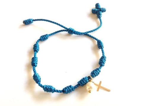 Baptism Favors - 6 pieces rosaries - Recuerdos de bautizo
