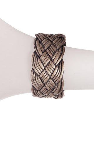 METALLIC BRAIDED CUFF
