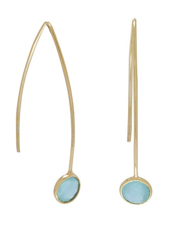Sasha Green Hydro Glass Wire Earrings