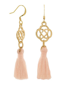 Fashion Peach Tassel Earrings