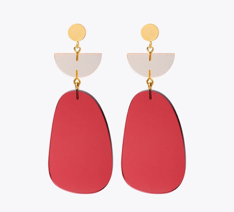 Eva Geometric Acrylic Earrings