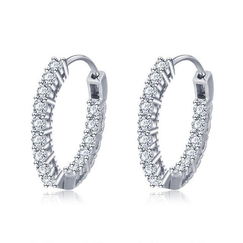Romantic CZ Hoop Earrings