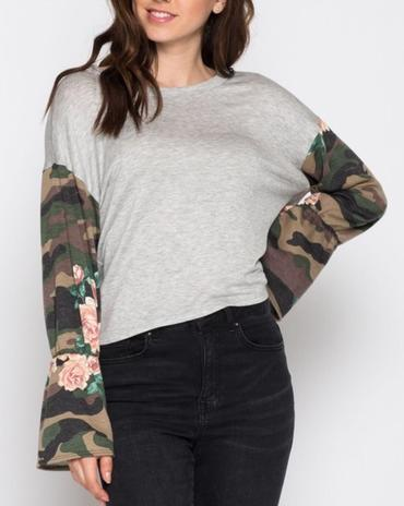 Camo Chic Top